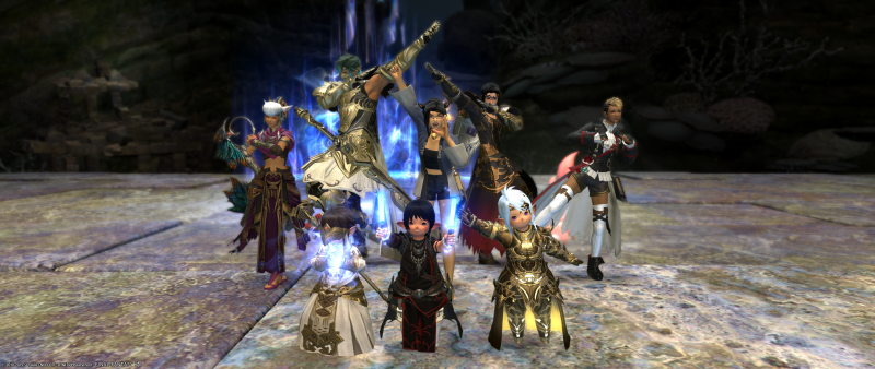 We took a celebration picture when we defeated Leviathan
