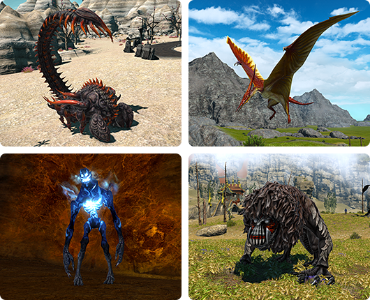 New hunts - I can't wait to square off against the spooky looking thing in the bottom left-hand corner #FFXIV #Stormblood